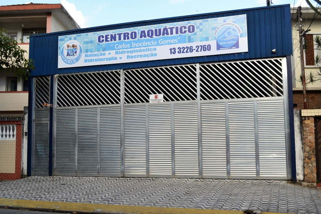 Fachada do Centro Aquático