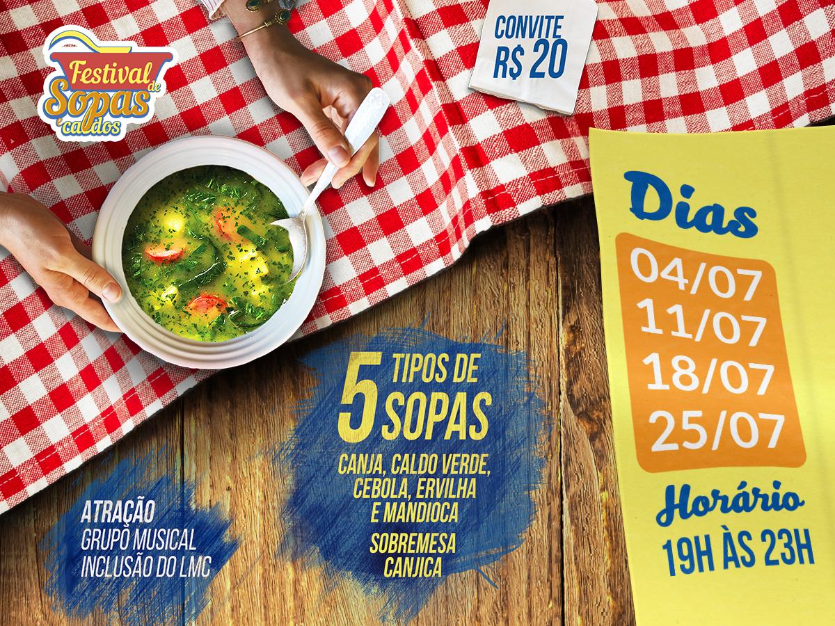 Convites para o Festival de Sopas e Caldos  estão à venda!