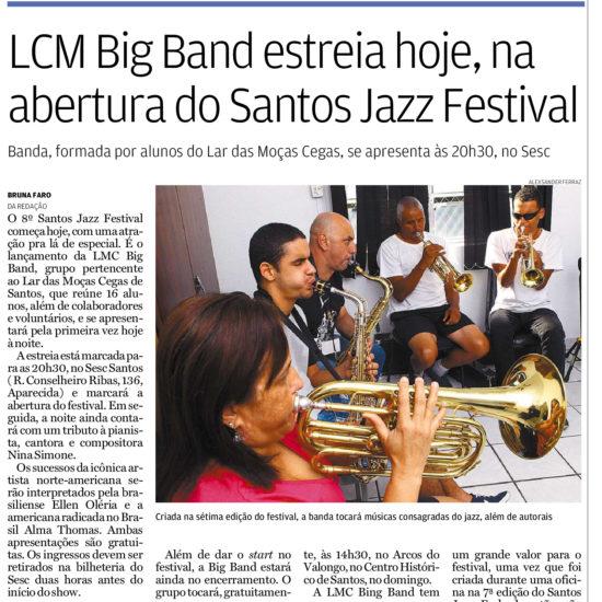 LMC Big Band é tema de reportagens no Jornal A Tribuna