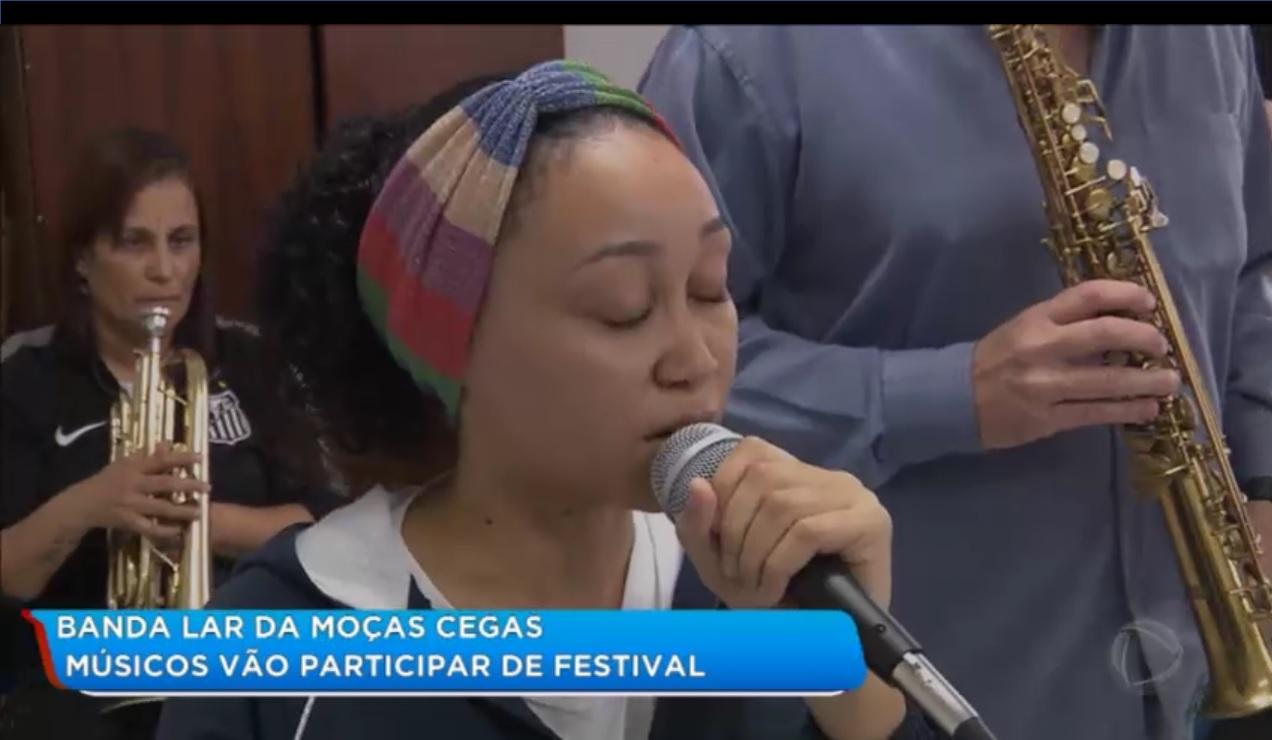 Músicos do Lar das Moças Cegas são atração em telejornal da Record
