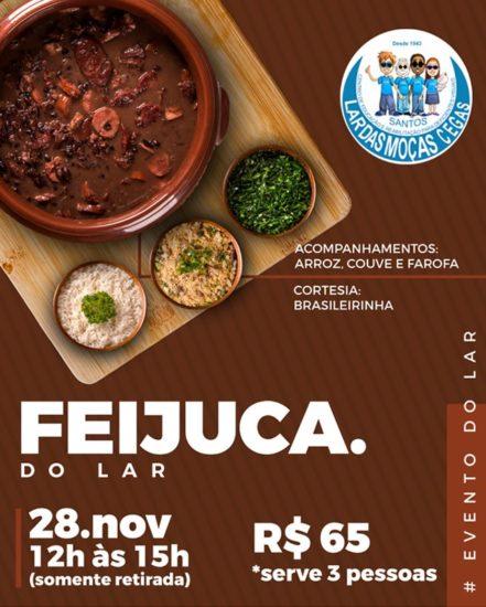 Lar das Moças Cegas promove evento 'Feijuca do Lar'