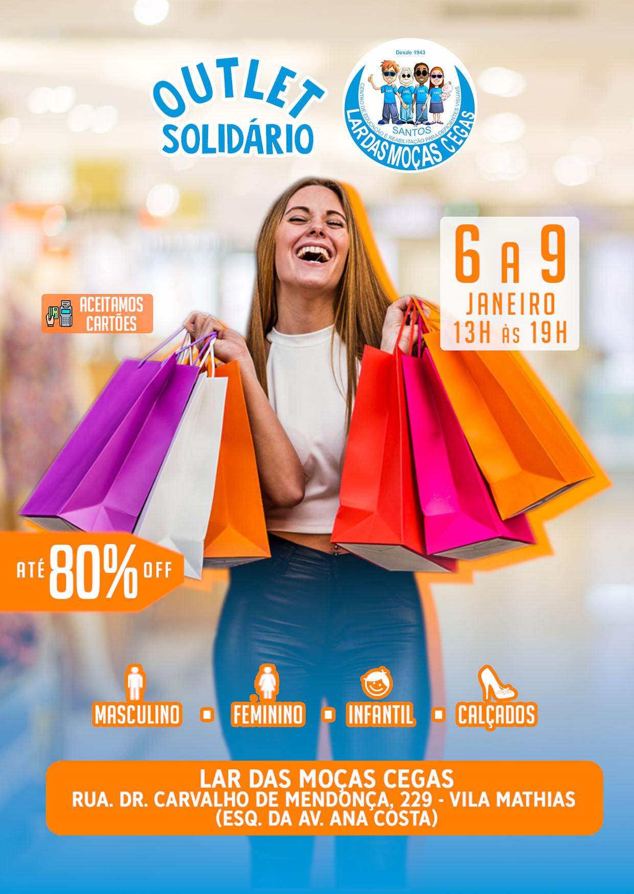 Lar das Moças Cegas promove 'Outlet Solidário'