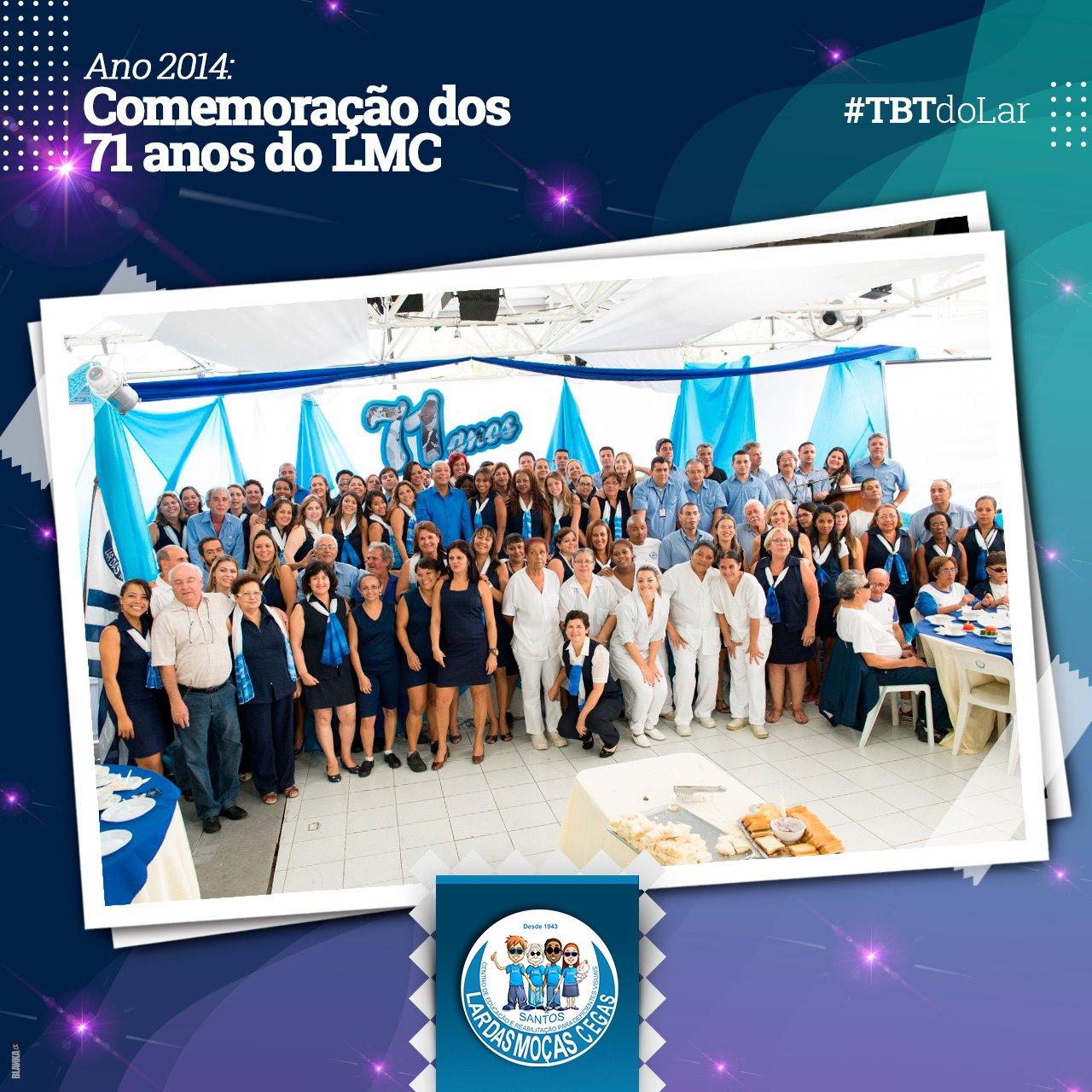 #TBT – Comemoração dos 71 anos do Lar das Moças Cegas