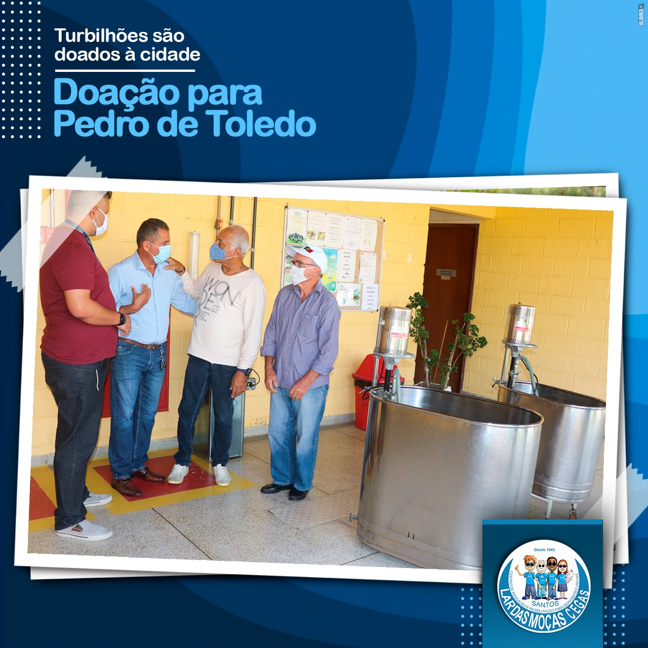 Lar das Moças Cegas doa aparelhos de fisioterapia para Pedro de Toledo