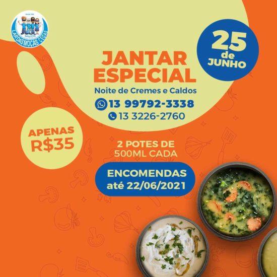 'Jantar Especial – Noite de Cremes e Caldos' é o próximo evento do Lar