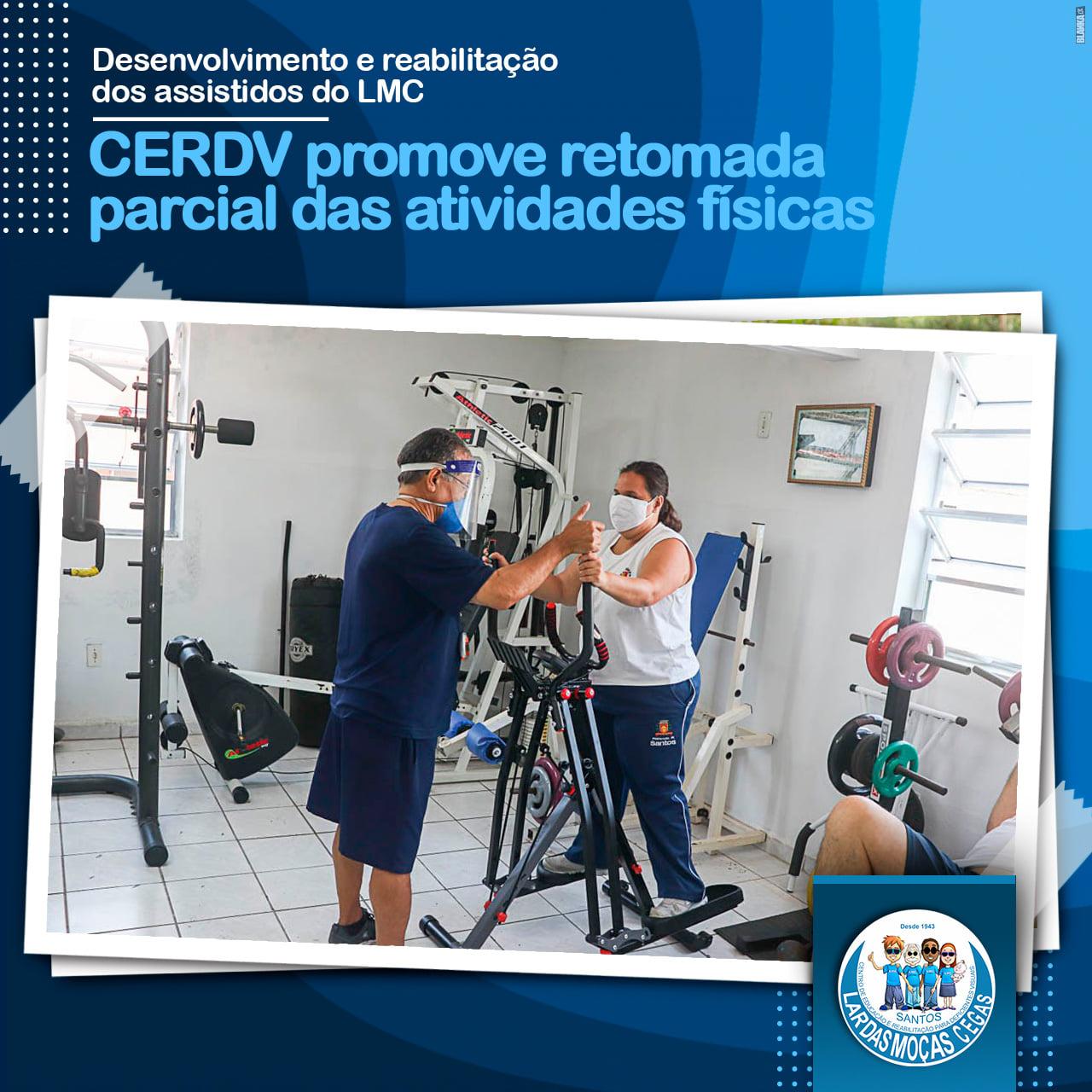 Treino Físico é uma das atividades do ensino híbrido da Pedagogia do Lar das Moças Cegas
